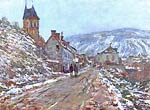 Road to Vetheuil in winter Monet