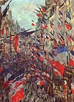 Rue Saint Denis Festivities on June 30th 1878 Claude Monet