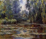 The Water-Lily Pond and Bridge Claude Monet