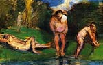 Male bathers at the shore Paul Cezanne