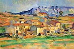 Montaigne Sainte Victoire, seen by the environment beu Gardanne