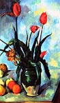 still life, vase with tulips Paul Cezanne