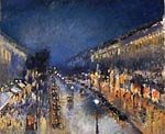 The boulevaerd Montmartre at night Camille Pissarro