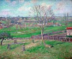 Field and the Great Walnut Tree in Winter, Eragny, 1885 Camille