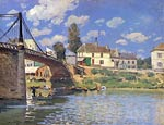 Bridge at Villeneuve-la-Garenne Alfred Sisley