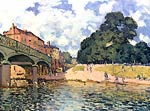 Bridge of Hampton Court Alfred Sisley