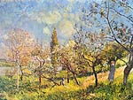Orchard in spring Alfred Sisley