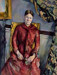 Madame cezanne in a red dress