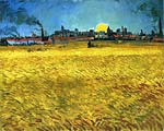 Sunset: Wheat Fields Near Arles