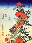 Bird and Chrysanthemen Katsushika Hokusai