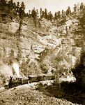 """Giant Bluff."" Elk Canyon on Black Hills, 1890"