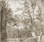 Trees behind a Wooden Fence, c. 1638 1642
