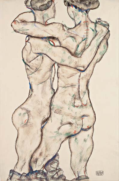 Naked Girls Embracing - Click Image to Close