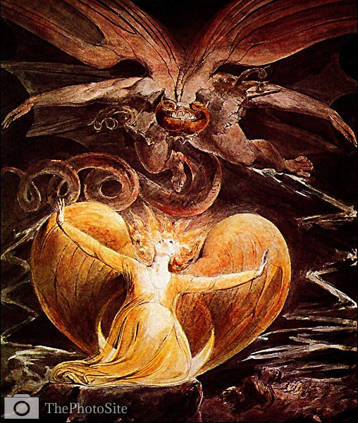 The Great Red Dragon and the Woman Clothed in the Sun William Bl - Click Image to Close