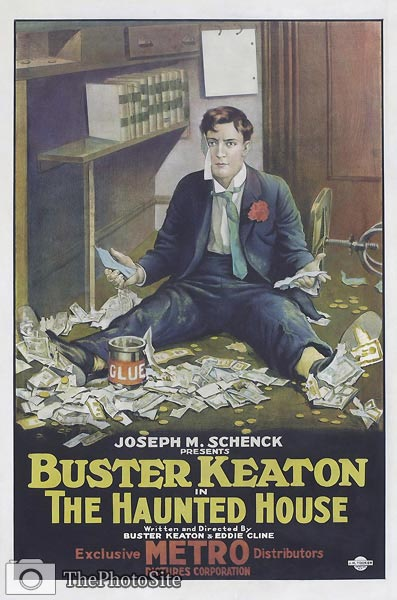 Buster Keaton film poster 1921 - The Haunted House - Click Image to Close