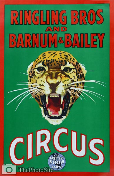 Barnum & Bailey Vintage Circus Poster - Click Image to Close