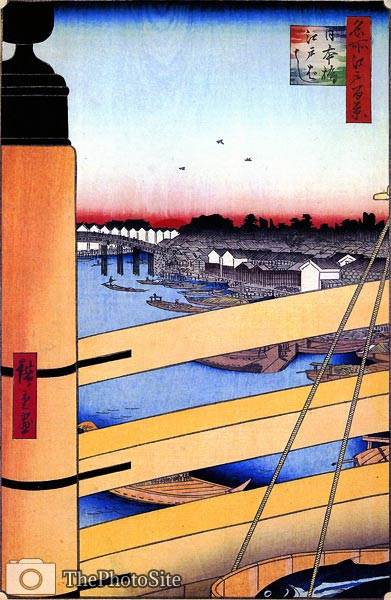 Nihonbashi Bridge and Edobashi Bridge Ando Hiroshige - Click Image to Close