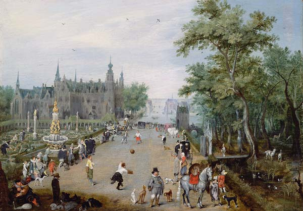 A Jeu de Paume Before a Country Palace - Click Image to Close