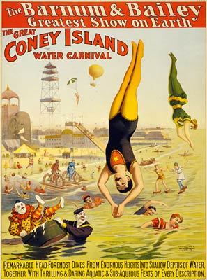 Barnum & Bailey Coney Island Water Carnival Poster