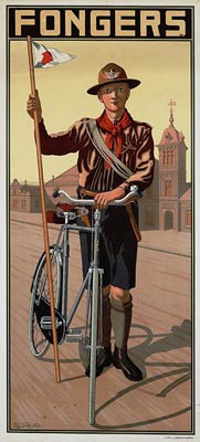 Fongers bicycle advertisement poster, Netherlands
