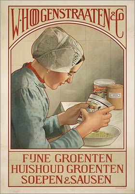 Fine vegetables, Soups and Sauces Dutch Poster