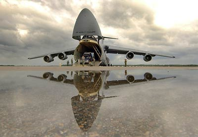 C-5 Galaxy reflection