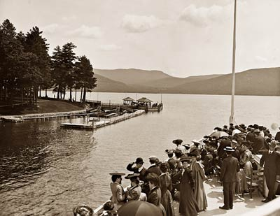 Sagamore Dock Green Island Lake George, New York 1904