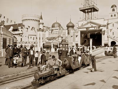 Coney Island amusement park 1905 minature railway