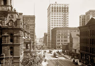 Griswold St. south from Michigan Ave. Detroit