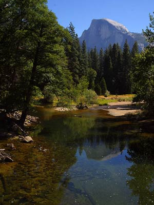 Half Dome, Merced River, Yosemite Park