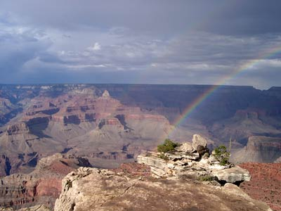 The Grand Canyon, with Rainbow