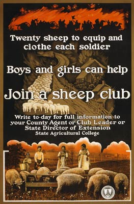 Join a sheep club war poster
