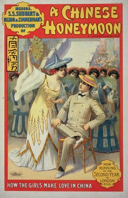A Chinese honeymoon Theatre Poster 1902