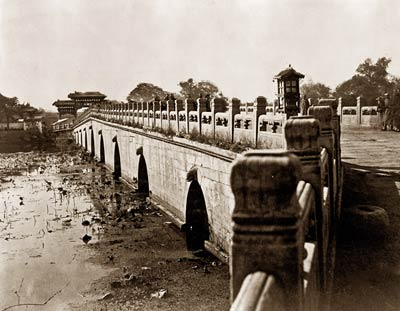 China - Hopeh province - Peking. Marble bridge in Imperial City