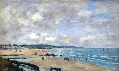 Beach at Trouville Eugene Boudin