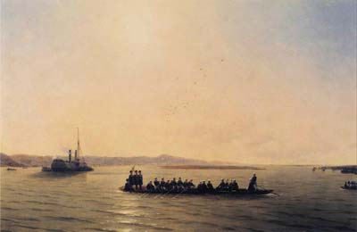 Alexander ii crossing the danube 1878, Ivan Aivazovsky