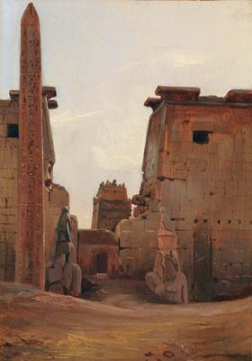 The gate to the temple of luxor 1836