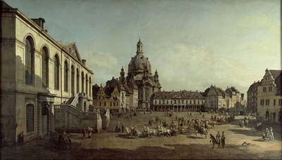 View of the Neumarkt in Dresden from the Judenhofe