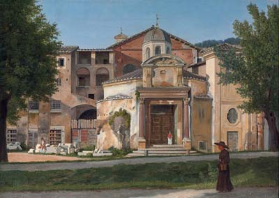 A section of the via sacra rome the church of saints cosmas and