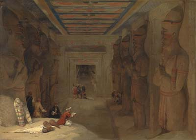 The Hypostyle Hall of the Great Temple at Abu Simbel, Egypt