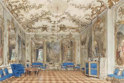 Concert Room of Sanssouci Palace, Potsdam, Germany