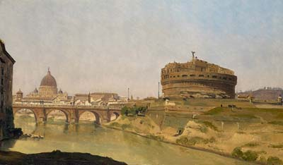 Rome with st peter s and the castel sant angelo