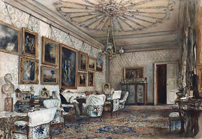 Salon in the Apartment of Count Lanckoronski in Vienna - Click Image to Close