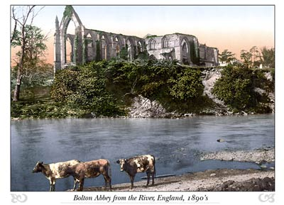 Bolton Abbey from the river, England