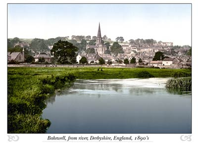 Bakewell, from river, Derbyshire, England