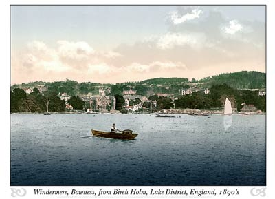 Windermere, Bowness, from Birch Holm, Lake District, England