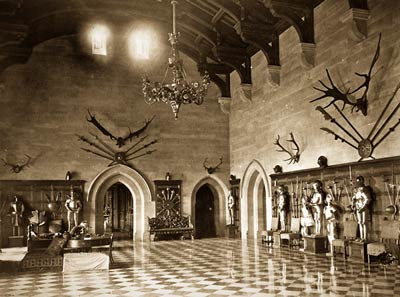 Grand Hall, Warwick Castle victorian era