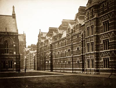 Keble College, Pusey Quad, Oxford old victorian photo