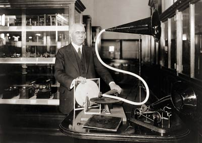 Emile Berline, first phonograph machine