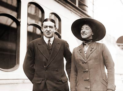 Ernest Shackleton with Wife
